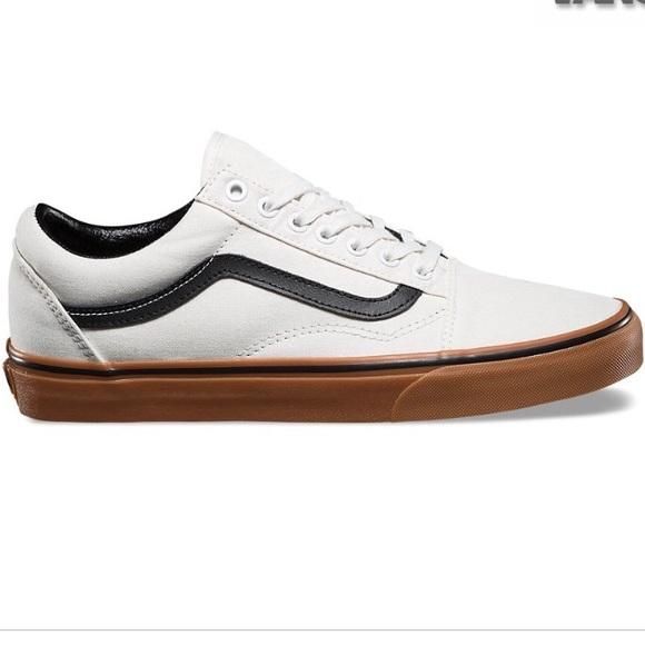 Vans Old Skool gum Blanc shoes black white W 9 267f46a8c